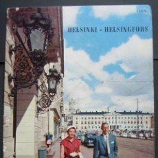 Folletos de turismo: GUIA TURÍSTICA DE HELSINKI. FINLANDIA. LAPPI. EXPOSICION INTERNACIONAL BRUSELAS. BELGICA 1958.. Lote 120112955