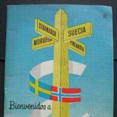 Folletos de turismo: GUIA TURÍSTICA DE SCANDINAVIA. EXPOSICION INTERNACIONAL BRUSELAS. BELGICA 1958.. Lote 120113243