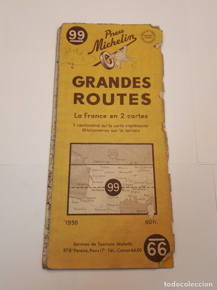 MAPA MICHELIN, FRANCIA 1950, N 99 (Coleccionismo - Folletos de Turismo)