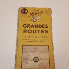 Folletos de turismo: MAPA MICHELIN, FRANCIA 1950, N 99. Lote 120292031