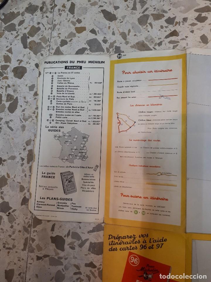 Folletos de turismo: mapa michelin, francia 1950, n 99 - Foto 8 - 120292031