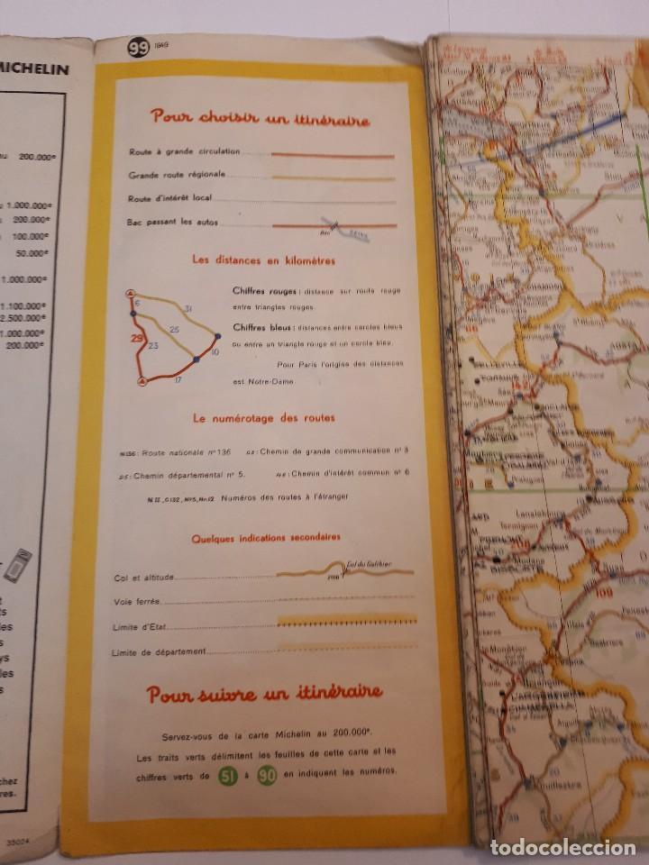 Folletos de turismo: mapa michelin, francia 1950, n 99 - Foto 11 - 120292031