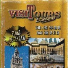 Folletos de turismo: FOLLETO TURISTICO Y PLANO DE SEVILLA. Lote 120387883