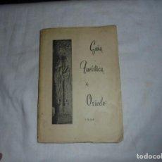 Folletos de turismo: GUIA TURISTICA DE OVIEDO 1950.CONTIENE MAPA. Lote 120557323