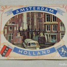 Folletos de turismo: ESTUCHE / SOUVENIR, CONTENIENDO 10 FOTOGRAFÍAS INDIVIDUALES EN COLOR, AÑOS 60, DE AMSTERDAM, HOLLAND. Lote 120567203