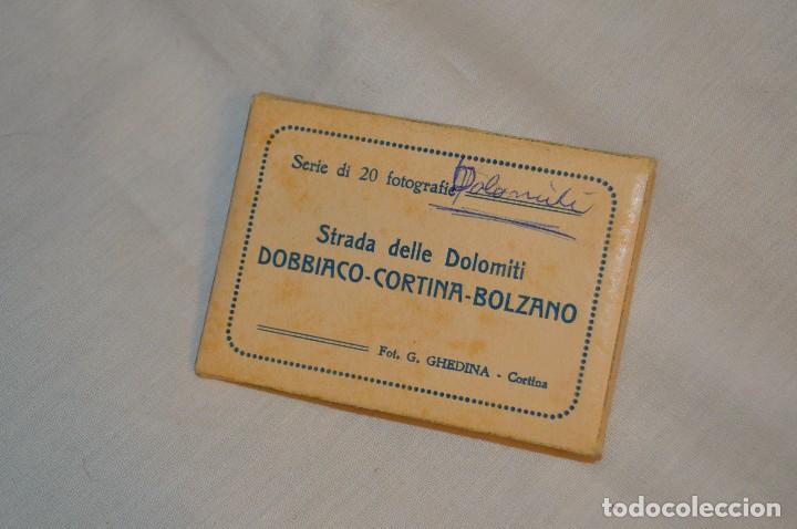 ESTUCHE / SOUVENIR, 20 FOTOGRAFÍAS INDIVIDUALES BLANCO/NEGRO, AÑOS 50/60, DE STRADA DELLE DOLOMITI (Coleccionismo - Folletos de Turismo)