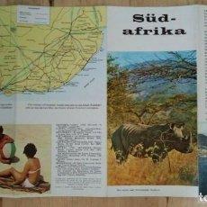 Folletos de turismo: SUDÁFRICA SÜD AFRIKA ANTIGUO FOLLETO DE TURISMO EN ALEMAN 40X21,5 R50. Lote 120586007