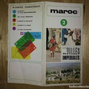 Maroc 2 les villes imperiales marruecos antiguo folleto de turismo en francés