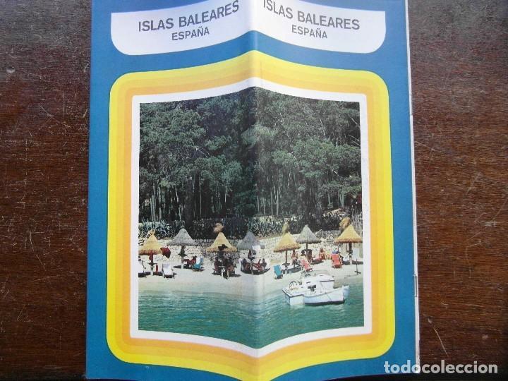 FOLLETO DE TURISMO AÑOS 70. ISLAS BALEARES (Coleccionismo - Folletos de Turismo)