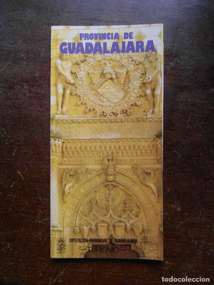 FOLLETO DE TURISMO 1986. PROVINCIA DE GUADALAJARA (Coleccionismo - Folletos de Turismo)
