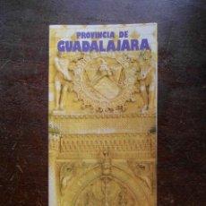 Folletos de turismo: FOLLETO DE TURISMO 1986. PROVINCIA DE GUADALAJARA. Lote 120665647