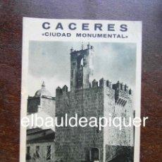 Brochures de tourisme: FOLLETO DE TURISMO AÑOS 60. CACERES. Lote 120740379
