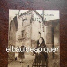 Brochures de tourisme: FOLLETO DE TURISMO AÑOS 60. LA PROVINCIA DE LOGROÑO. LA RIOJA. Lote 120745131
