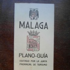 Folletos de turismo: FOLLETO DE TURISMO 1946. PLANO GUIA DE MALAGA. Lote 120902183