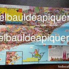 Brochures de tourisme: MAPA DE LA COSTA DORANA 1963. Lote 120911443