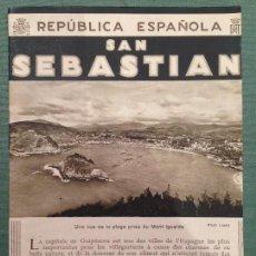 Folletos de turismo: FOLLETO TURÍSTICO DE LA II REPÚBLICA (EN FRANCÉS) - SAN SEBASTIAN -. Lote 136731938