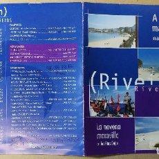 Folletos de turismo: FOLLETO TURISTICO, TURISMO, DIPTICO, RIBEIRA A NOVENA MARABILLA DAS RIAS BAIXAS. Lote 121818915