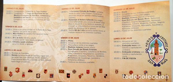 Folletos de turismo: FOLLETO FIESTAS MOROS Y CRISTIANOS SAN BLAS ALICANTE 2013 VER FOTO adicional - Foto 2 - 121931871
