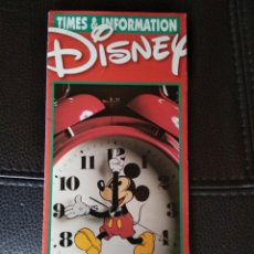 Folletos de turismo: TIMES & INFORMATION DISNEY WORLD 1999. Lote 122090891