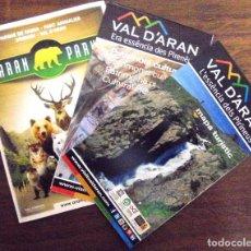 Folletos de turismo: MAPAS GUIA DEL VALLE DE ARAN. MAPA TURISTICO; MAPA CULTURAL, Y DIPTICO PARQUE DE FAUNA. Lote 123028067