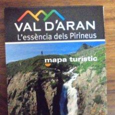 Folletos de turismo: MAPA GUIA DEL VALLE DE ARAN, MAPA TURISTICO, EN CATALÁN. Lote 123028271