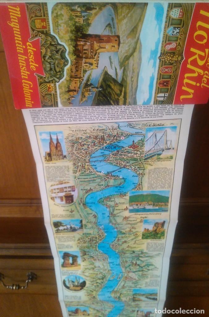 Folletos de turismo: Río RHIN con mapa desplegable - Foto 3 - 123207455