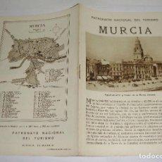 Folletos de turismo: FOLLETO TURÍSTICO. PATRONATO NACIONAL DEL TURISMO. MURCIA. CON PLANO Y FOTOGRAFÍAS.. Lote 123625415