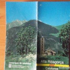 Folletos de turismo: CATALUÑA-V50-ALTA RIBAGORÇA. Lote 123755775