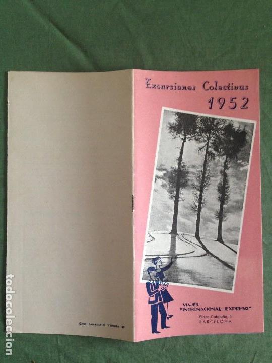 Folletos de turismo: VIAJES INTERNACIONAL EXPRESO - FOLLETO EXCURSIONES COLECTIVAS AÑO 1952 - Foto 2 - 124437627