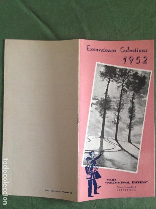 VIAJES INTERNACIONAL EXPRESO - FOLLETO EXCURSIONES COLECTIVAS AÑO 1952 (Coleccionismo - Folletos de Turismo)