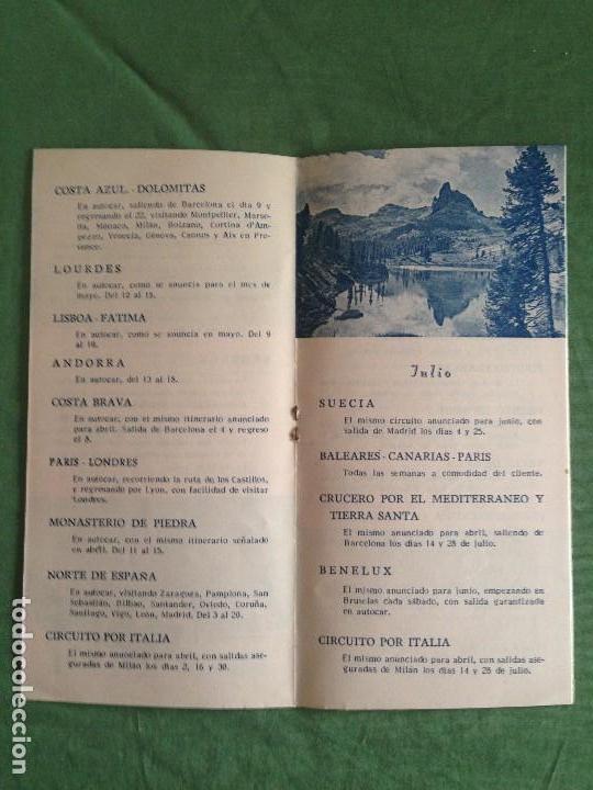 Folletos de turismo: VIAJES INTERNACIONAL EXPRESO - FOLLETO EXCURSIONES COLECTIVAS AÑO 1952 - Foto 3 - 124437627