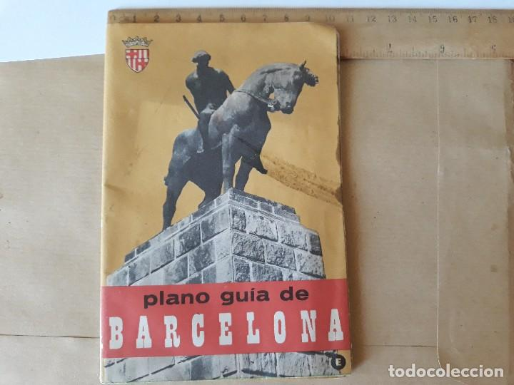 PLANO GUIA DE BARCELONA 1965 (Coleccionismo - Folletos de Turismo)