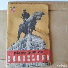 Folletos de turismo: PLANO GUIA DE BARCELONA 1965. Lote 125026275