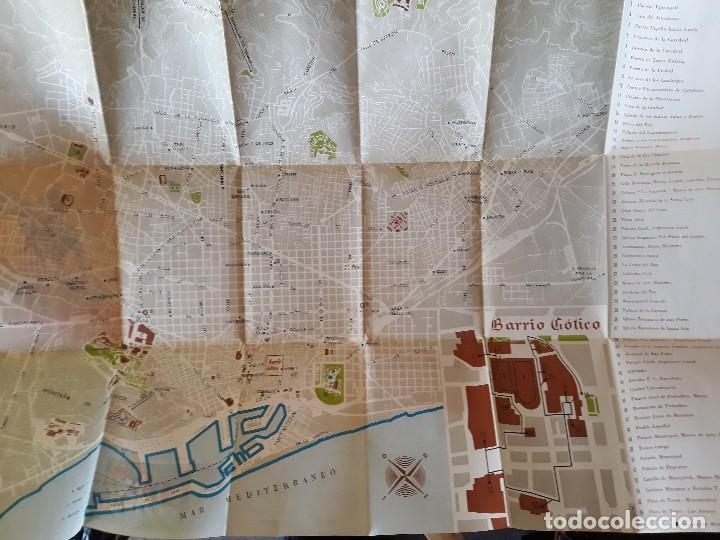 Folletos de turismo: Plano guia de Barcelona 1965 - Foto 3 - 125026275