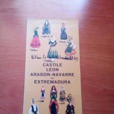 Folletos de turismo: CASTILLA LEON.ARAGON.NAVARRA Y EXTREMADURA - DIRECCION GENERAL DE TURISMO (EN INGLES) - AÑOS 60. Lote 125905327