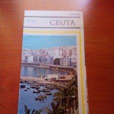 Folletos de turismo: CEUTA - AÑOS 60 - INCLUYE PLANO - PUBLICACIONES DE MINISTERIO DE INFORMACION Y TURISMO.. Lote 125905939