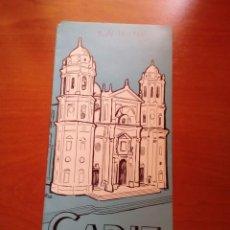 Folletos de turismo: CADIZ - 1964 - EDITORIAL JEREZ INDUSTRIAL - VARIAS PAGINAS CON PLANO Y PUBLICIDAD BEBIDAS DE JEREZ. Lote 125906431