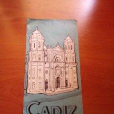 Folletos de turismo: CADIZ - 1964 - EDITORIAL JEREZ INDUSTRIAL - VARIAS PAGINAS CON PLANO. Lote 125906555