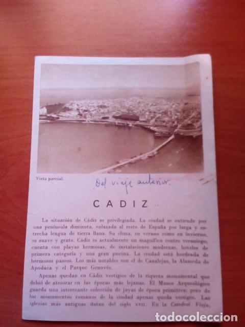 CADIZ - AÑOS 60 - FOTOS KINDEL Y REYMUNDO - DIRECCION GENERAL DEL TURISMO (Coleccionismo - Folletos de Turismo)