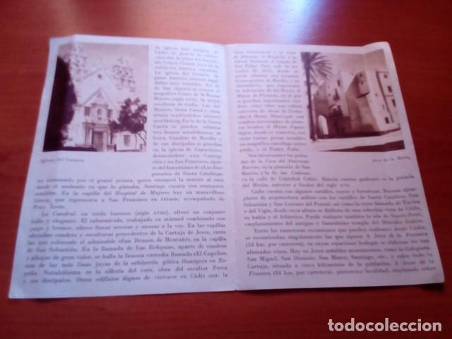 Folletos de turismo: CADIZ - AÑOS 60 - FOTOS KINDEL Y REYMUNDO - DIRECCION GENERAL DEL TURISMO - Foto 2 - 125906691