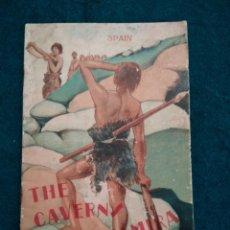 Folletos de turismo: CANTABRIA .- THE CAVERN OF ALTAMIRA .- FOLLETO DE TURISMO 1928 .- IDIOMA INGLES. Lote 127191263