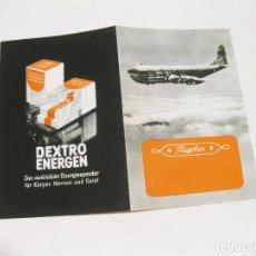 Brochures de tourisme: FOLLETO PUBLICITARIO DE PLAN DE VUELO EN ALEMÁN. AÑOS 40-50.. Lote 127250527