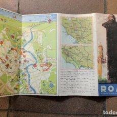 Folletos de turismo: FOLLETO DE TURISMO ROMA ITALIA EN CASTELLANO, INCLUYE PLANO DE LA CIUDAD.. Lote 127922111