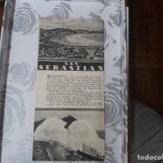Folletos de turismo: SAN SEBASTIAN FOLLETO TURISMO EN ALEMAN? FOTOS BONITAS. Lote 127953703