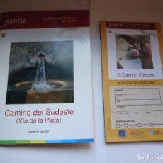 Folletos de turismo: LOS CAMINOS DE SANTIAGO EN GALICIA, CNO. DEL SUDESTE (VIA DE LA PLATA). Lote 127974867