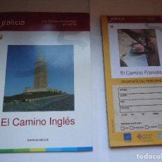 Folletos de turismo: LOS CAMINOS DE SANTIAGO EN GALICIA, EL CNO. INGLES.. Lote 127975063