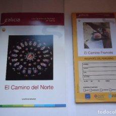 Folletos de turismo: LOS CAMINOS DE SANTIAGO EN GALICIA, CNO. DEL NORTE.. Lote 127975239
