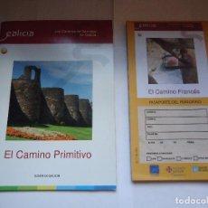 Folletos de turismo: LOS CANINOS DE SANTIAGO EN GALICIA, CNO. PRIMITIVO.. Lote 127975323