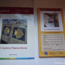 Folletos de turismo: LOS CAMINOS DE SANTIAGO EN GALICIA, CNO. FISTERRA-MUXIA.. Lote 127975379