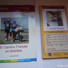 Folletos de turismo: LOS CAMINOS DE SANTIAGO EN GALICIA, CNO. FRANCES EN BICICLETA.. Lote 127975539